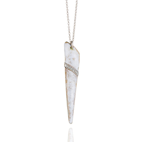 Ice shard necklace with diamonds