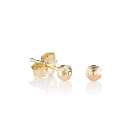 Gold tiny sea urchin nipple studs
