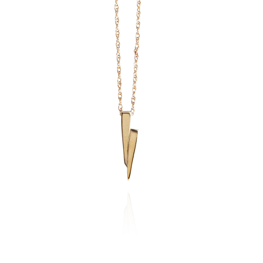 Gold on gold razor necklace