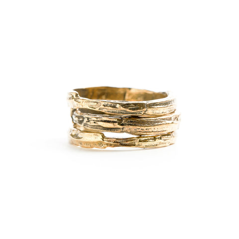 Gold ridge stack rings