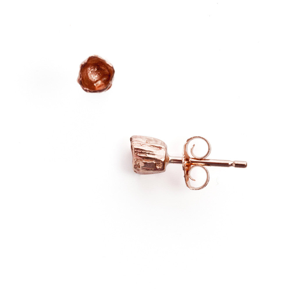 Rose gold single barnacle studs