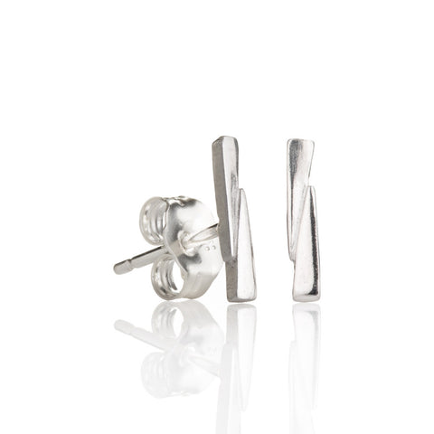 Sterling silver razor bow studs
