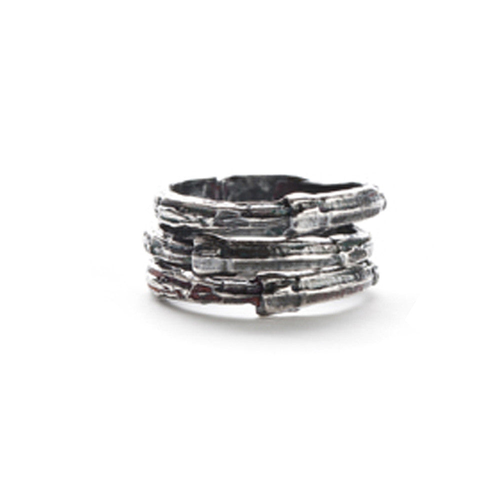 Oxidized ridge stack ring