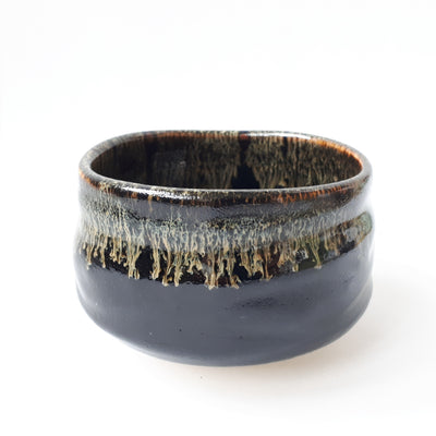 Matcha bowl black lava