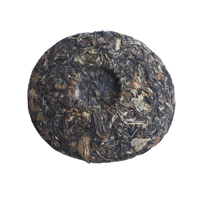 Aged White Tea Cake (Shou Mei 2012) back