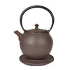 cast iron globe teapot