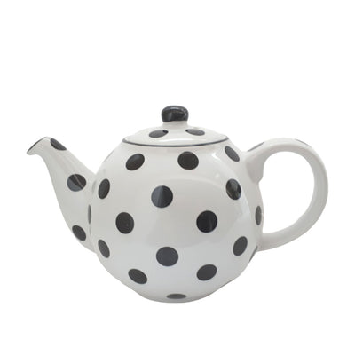 Teapot I polka dot black & white