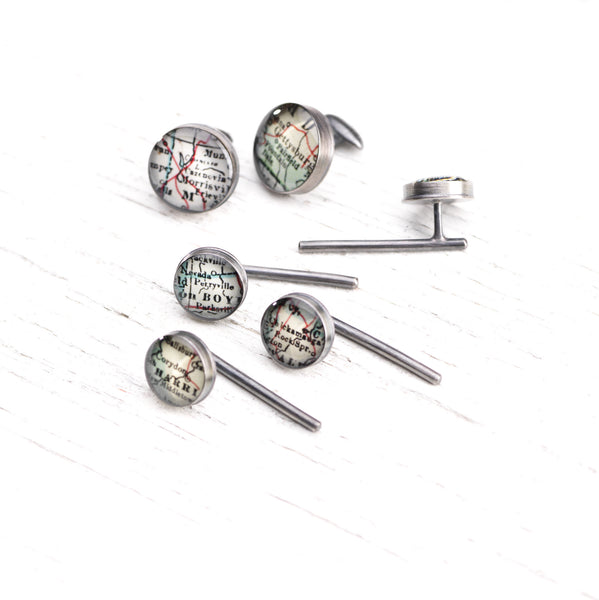 Antique Map Cufflinks - CUSTOM