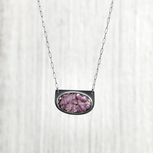 Amethyst Rock Candy Antique Glass Necklace