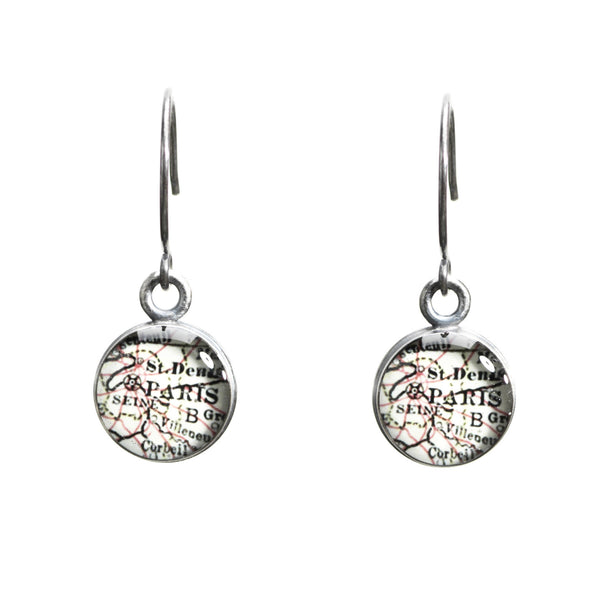 Antique Map Earrings - CUSTOM