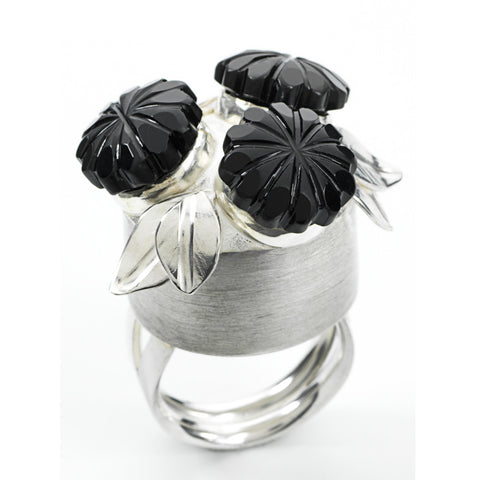 Button Bouquet Sterling Cocktail Ring