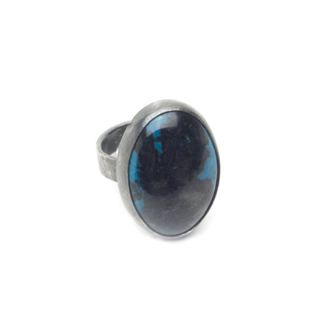 Chrysocolla & Tenorite Sterling Ring