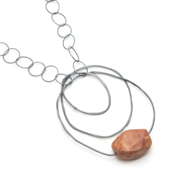 Red Creek Jasper Loops Necklace