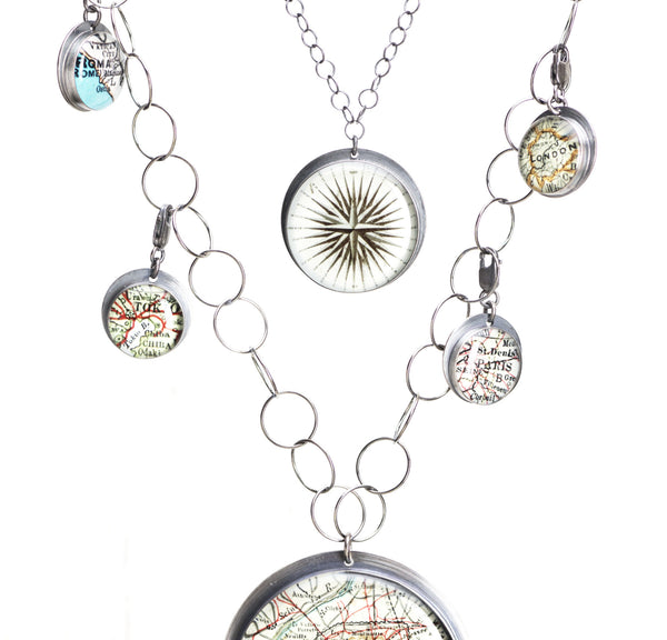 Antique Map Chains *a la carte - Build Your Own Custom Necklace