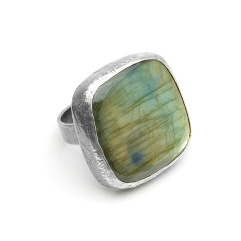 Labradorite Ring - Square