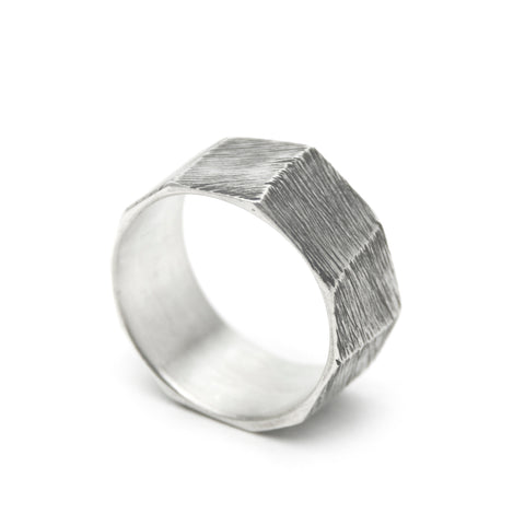 Planes Ring - Sterling Silver