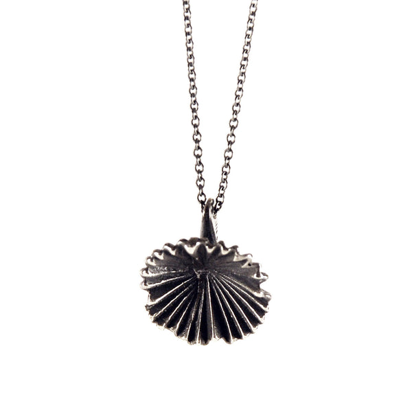 Deco Fan Flower Sterling Necklace