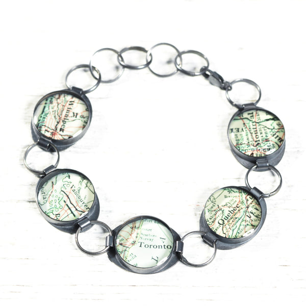 Antique Map Bracelet - CUSTOM