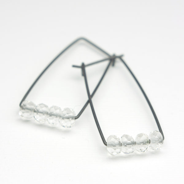 Perch Earrings :  Luxe Quartz Crystal