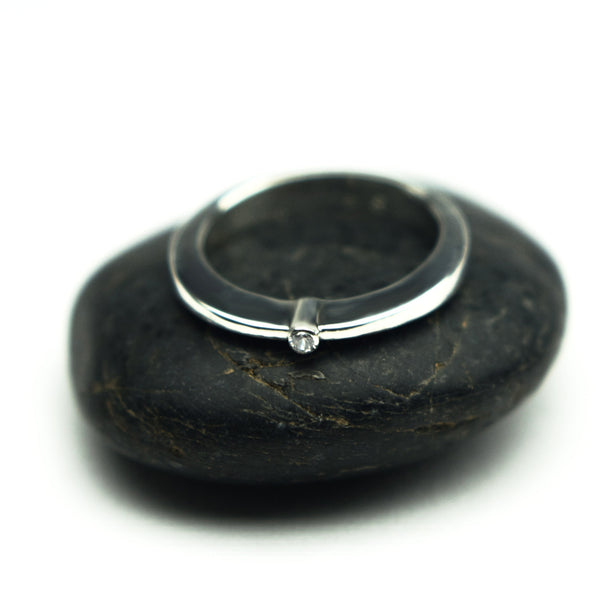 Classically Forged - Sterling and Sapphire Ring