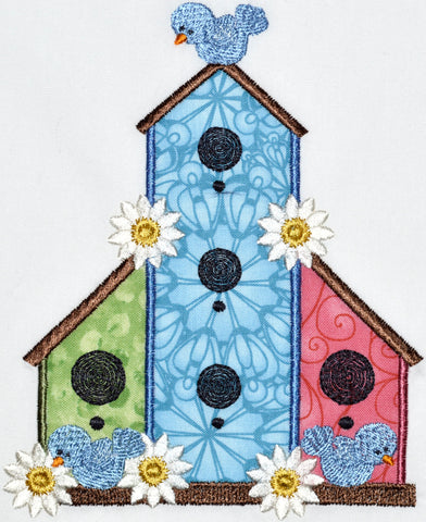 Applique Birdhouses [5x7] # 10565