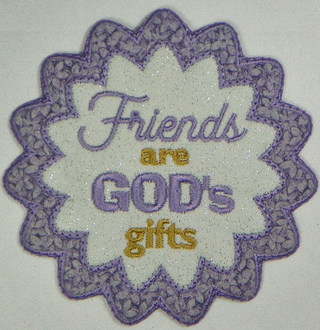 Friends FreeStanding Applique Projects  ATWS-10331
