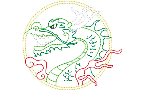 Color Outline Dragons  ATWS-10362