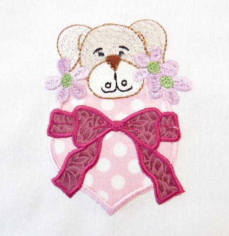 Applique Pocket Puppies  ATWS-10348