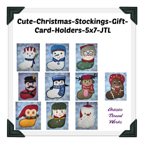 Cute Christmas Stocking-Gift Card Holders    ATWS-10147