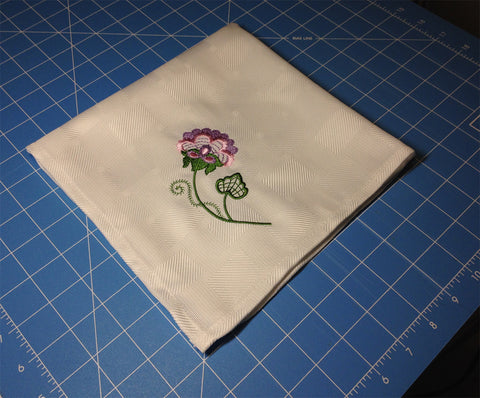 Embroidered Napkin Project   ATWS-10247