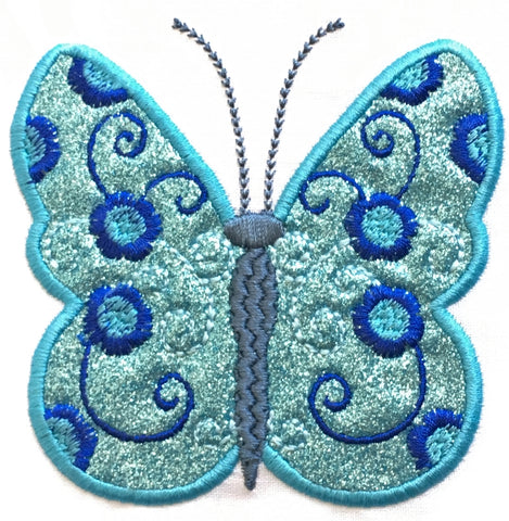 Applique Curly Butterflies   ATWS-10037