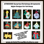 FSL Mylar Surprise Christmas Ornaments  [4x4]  ATWS-10161