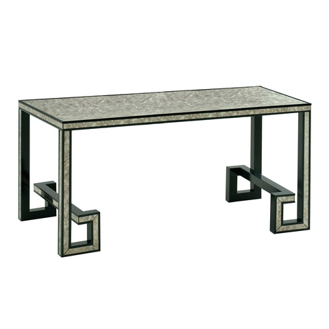 Greek Key Mirrored Console Table