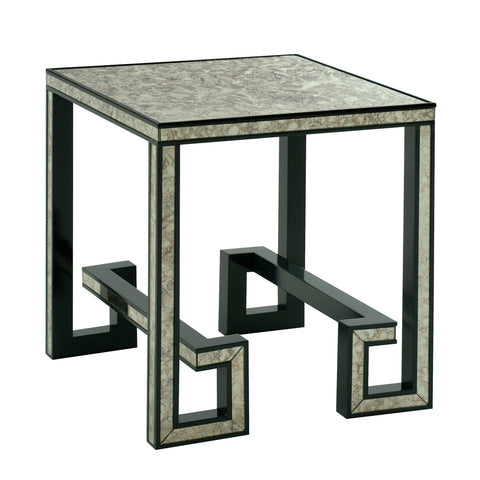 Greek Key Mirrored Side Table