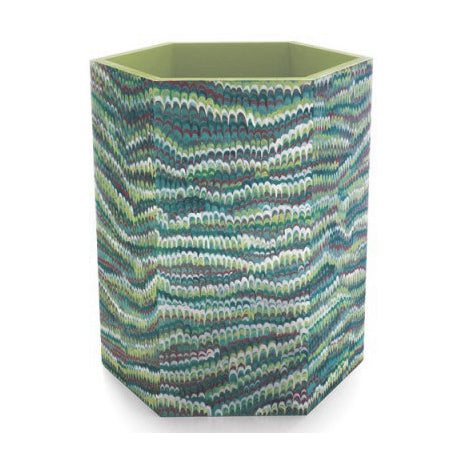 Faux Painted Wastebaskets