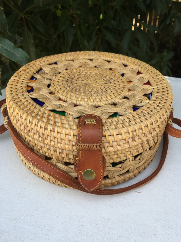 Rattan Bag With Outer Design