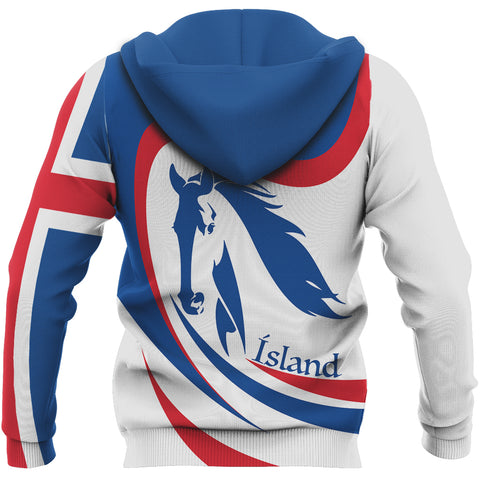 1stIceland Pullover Hoodie, Iceland Flag Horse TH0 - 1st Iceland