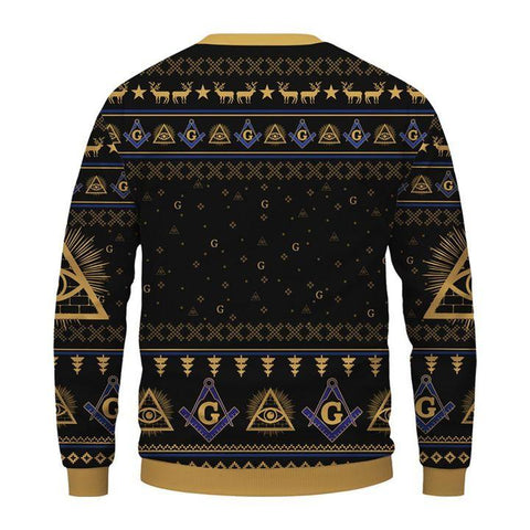 Image of Freemasonry Christmas Sweatshirt TH5 - 1st Iceland