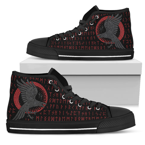 Image of 1stIceland Viking High Top Shoes, Ragnar Raven Runes K5 - 1st Iceland