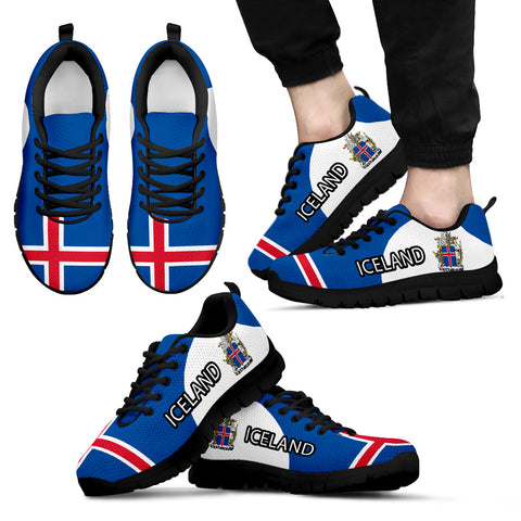 1stIceland Sneakers, Iceland Flag Coat Of Arms Th5 - 1st Iceland