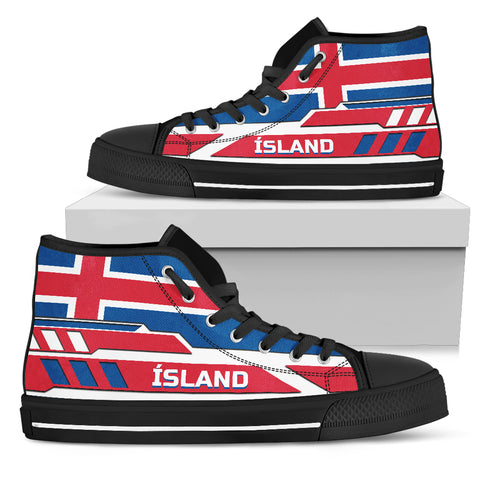 1stIceland High Top Shoes, Ísland FLag TH0 - 1st Iceland