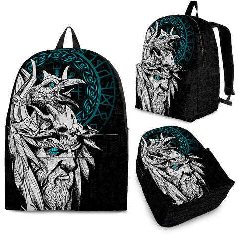 1stIceland Viking Odin And Raven Turquoise Backpack TH12