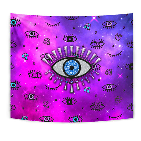 1stIceland Evil Eye Tapestry Simple Style - Pink K8 - 1st Iceland