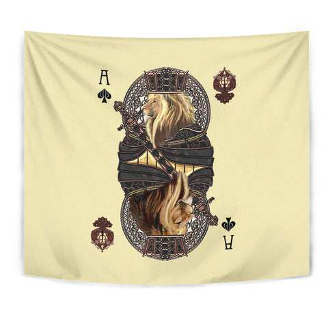 Image of 1st Iceland King Ace Spade Lion Poker Tapestry TH12 - 1st Iceland