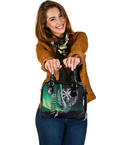 Image of 1stIceland Viking Shoulder Handbag Northern Lights TH12 - 1st Iceland