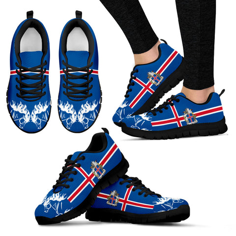 Image of 1stIceland Sneakers, Icelandic Horse Flag Coat Of Arms K4 - 1st Iceland