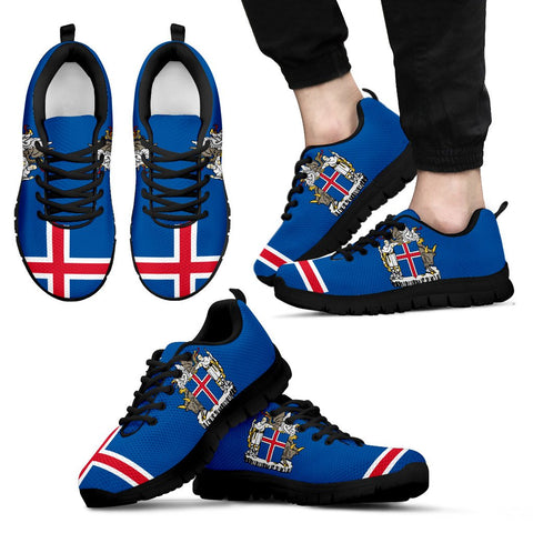 1stIceland Sneakers, Iceland Flag Coat Of Arms NN8 - 1st Iceland