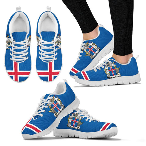 Image of 1stIceland Sneakers, Iceland Flag Coat Of Arms NN8 - 1st Iceland