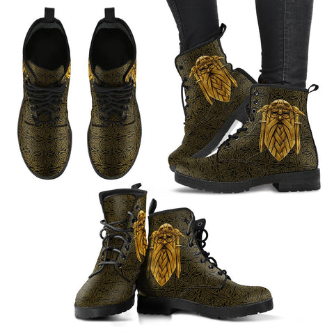 1stIceland Viking Leather Boots, Odin Norse Mythology H1 - 1st Iceland