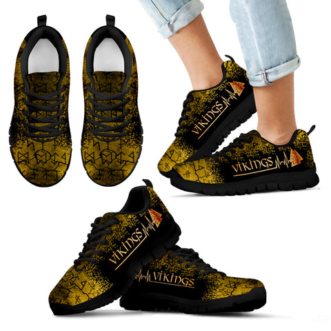 1stIceland Viking Sneakers , Valknut Heartbeat Rune TH0 - 1st Iceland